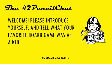 Hello, hello, hello! It's time to play #2PencilChat, the Game! Pick your game piece, and let's set up the board! https://t.co/fDAN0KjTHW