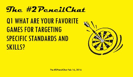 Q1 wants to get the official schooly stuff out of the way early. #2PencilChat https://t.co/SoWfqLB1HZ