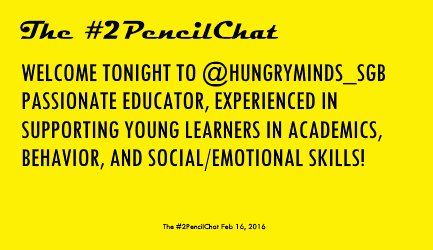 We have a special welcome this week to Kevin Munn - @hungryminds_SGB -  from https://t.co/TlVkFQ03RF.  #2PencilChat https://t.co/l5Ixzo37xr