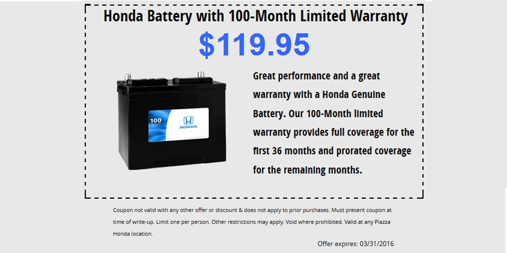 May Be Time For A New Battery Get Honda With 100 Month Warranty 119 95 Https T Co Nkcixhmglo