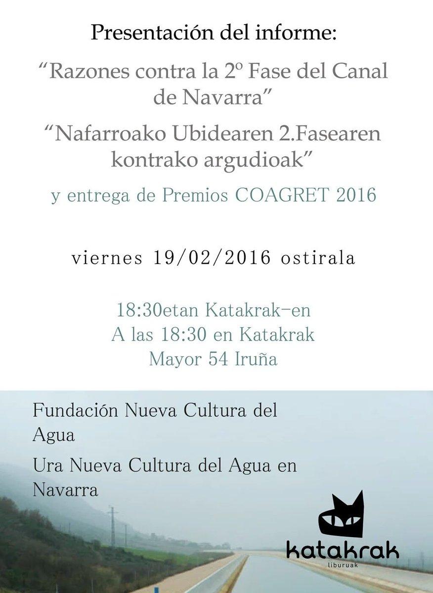 Cartel del acto de presentación del informe en Katakrak