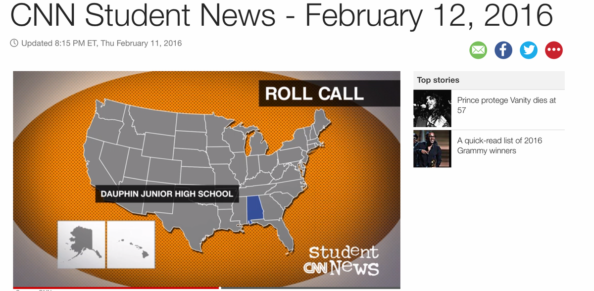 Whoo! Way to get a @CNNStudentNews shout out, @AWilliamsDJHS & #WilliamsDJHS for #DJHLearn! #ECSLearn proud! https://t.co/TM14qxshHa