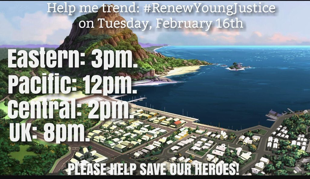 Today is the day we trend #RenewYoungJustice Get ready!!!! #YoungJustice #symbiosi https://t.co/wmvmqxmgOu