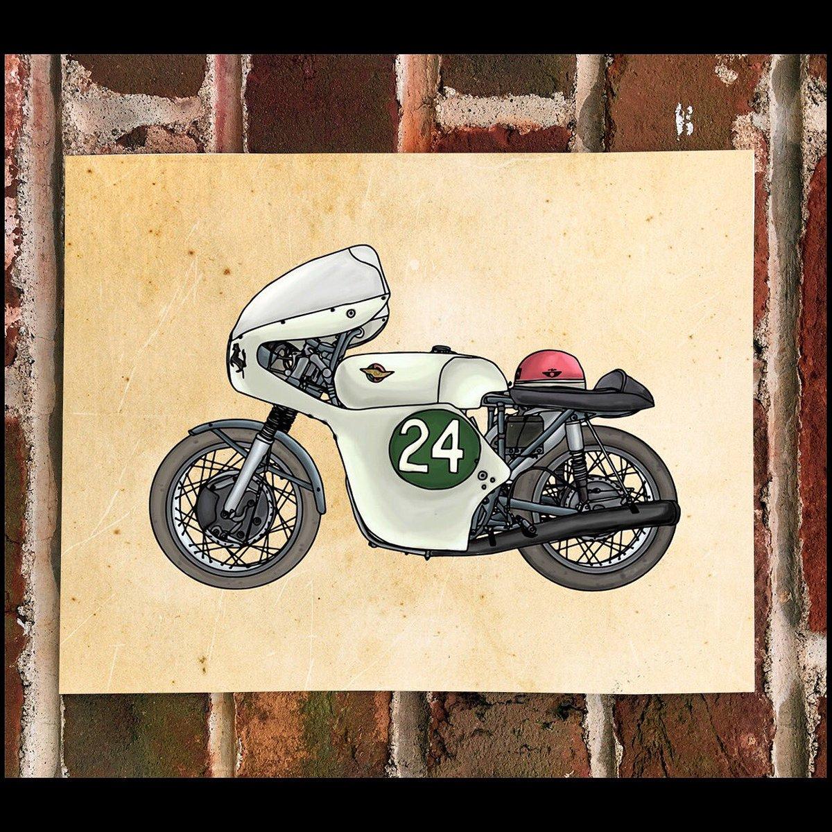 KillerBeeMoto On Twitter Limited Print Of Vintage Ducati Race Bike Hailwood Motorcycle Motorcycleracing Tco DNhPy8ir0y