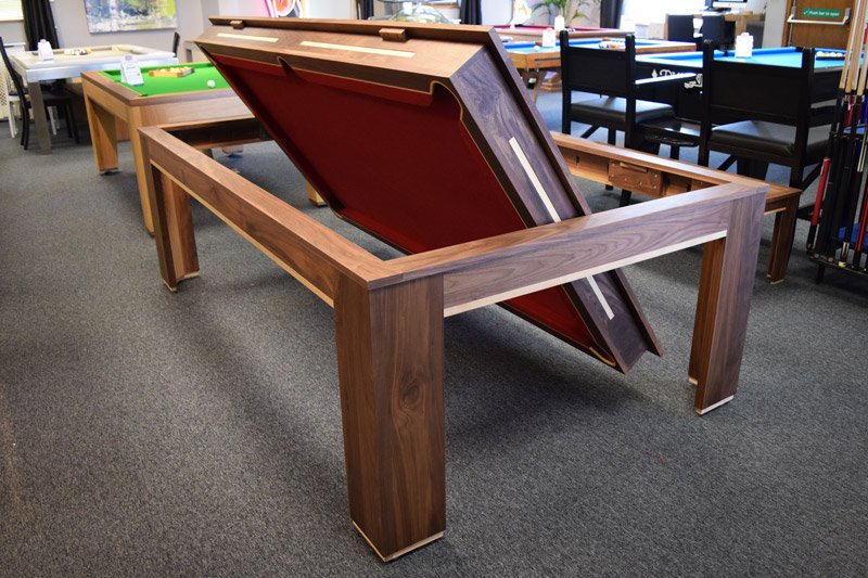 Designer billiards on twitter duel purpose spartan - Snooker table dining table combination ...