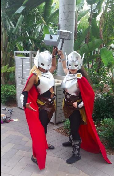 #29DaysOfBlackCosplay me & @ashi_chan as Thor twins, Nariko and Kratos https://t.co/THl90jTV8J