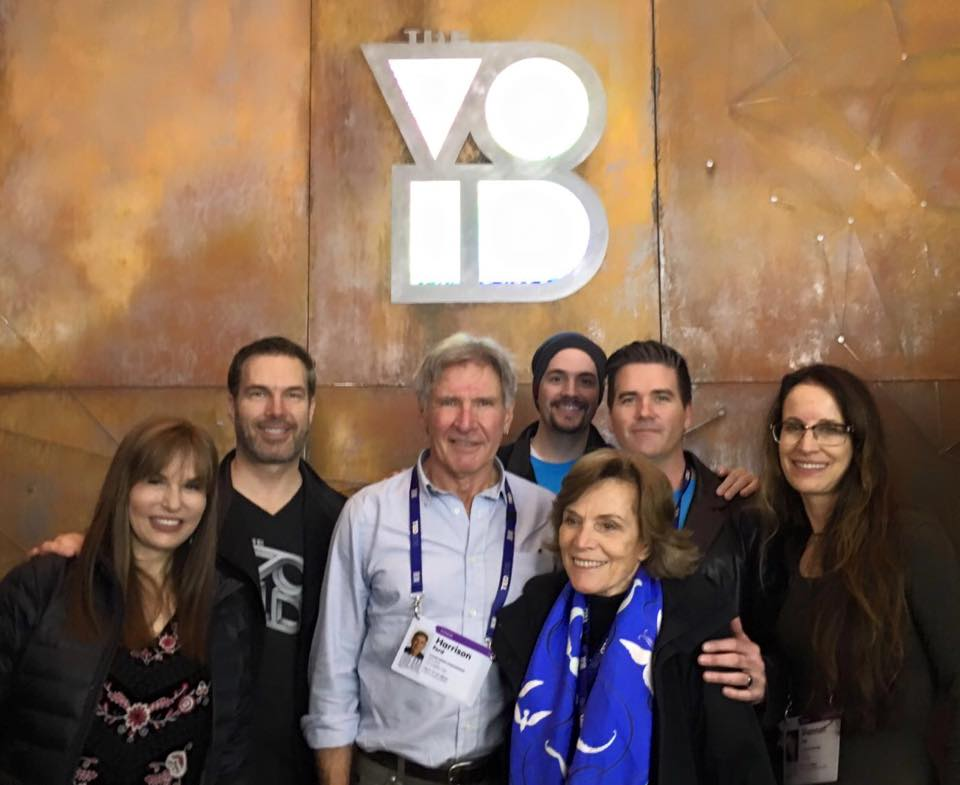 WHAT?! Harrison Ford took a trip through @voidvr? Yes he did and he LOVED it! Here is is pictured with the founders. https://t.co/Sgb1CThwEM