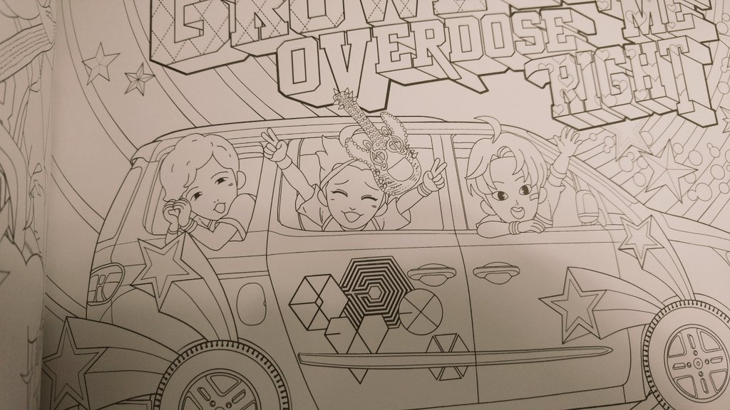 XIUMIN UNION INA On Twitter EXO Coloring Book Cr