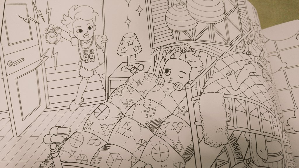 XIUMIN UNION INA On Twitter EXO Coloring Book Cr Ordinary Sanha Tco Zzc6tkJeDq