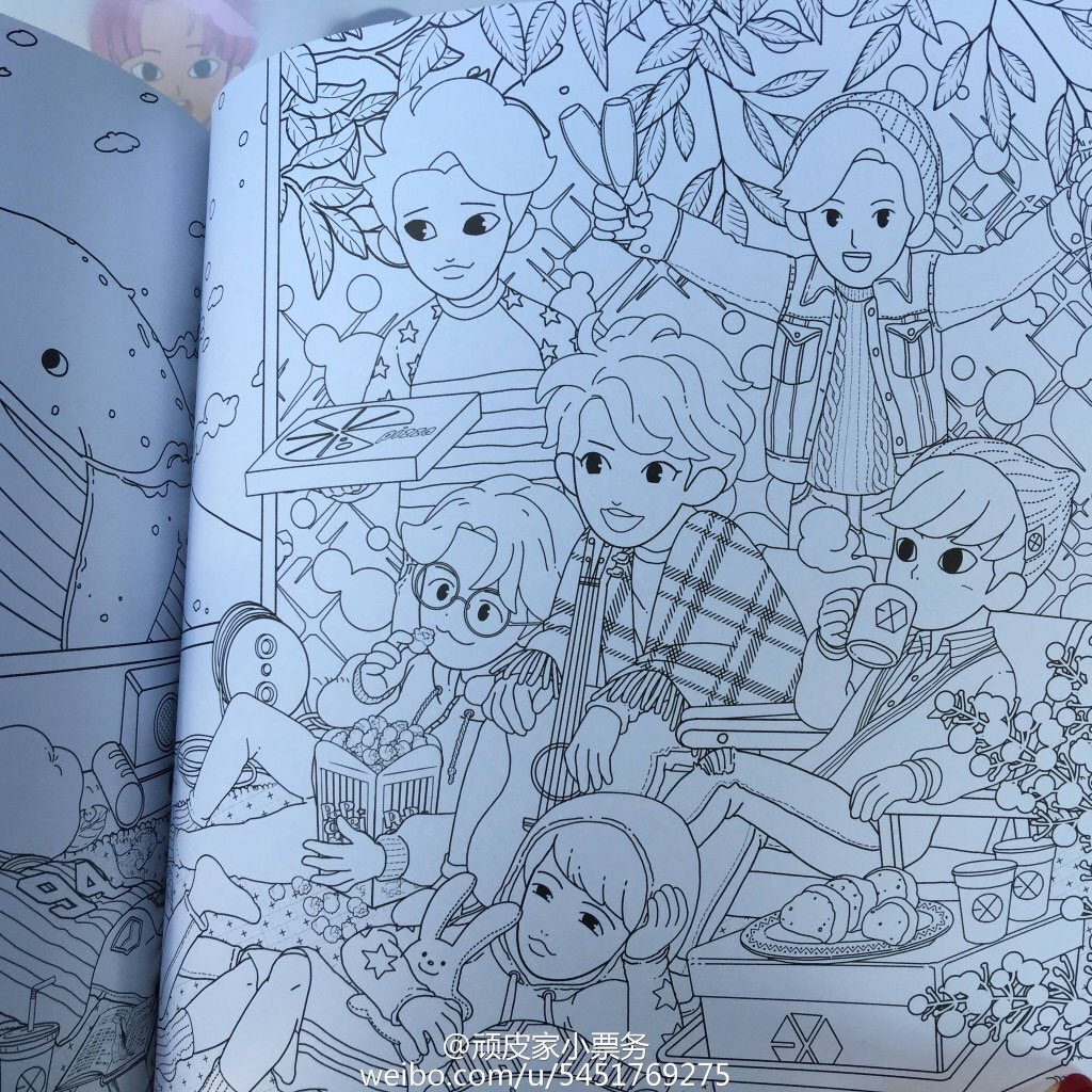 EXO FANBASE On Twitter 160217 Coloring Book Cr As Tagged Tco 1lMNtH3dR4