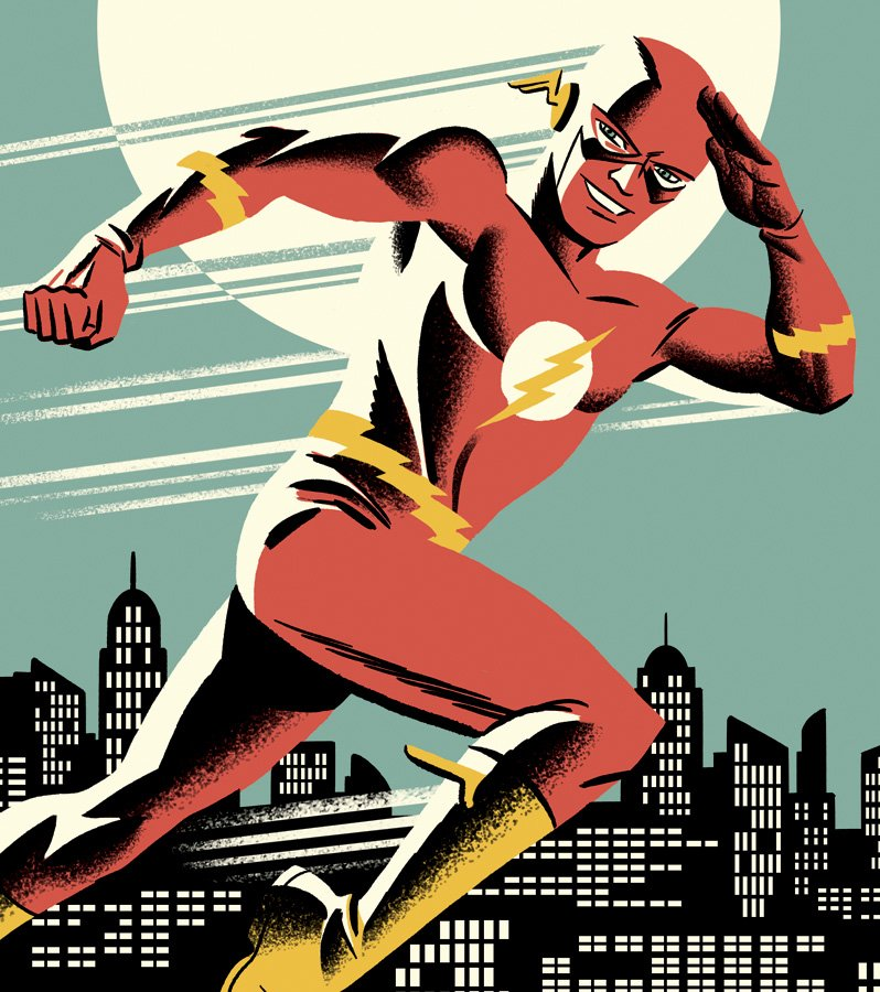 I drew the Flash for an upcoming collection of silver age reprints from DC. Another happy superhero! https://t.co/Ix1NVhrYWp
