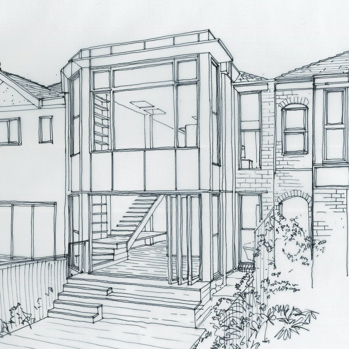 Melonie Bayl Smith On Twitter Hand Sketch Of A Two Storey Semi In