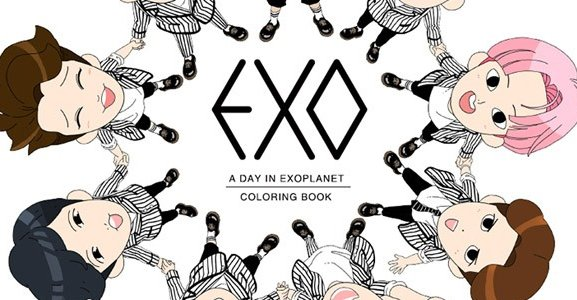 Kpop Herald On Twitter Color Your Life With EXO Coloring Book