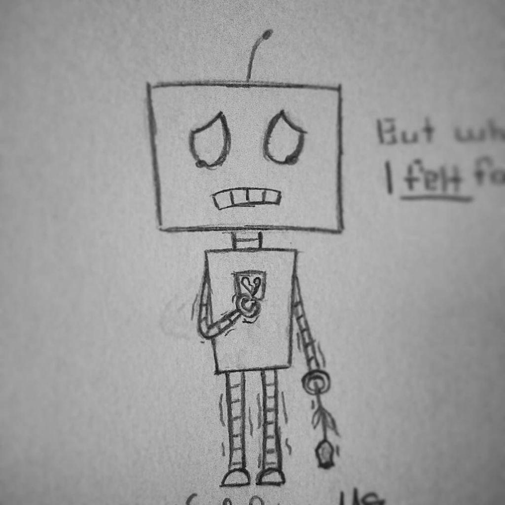 Sadie Lynn On Twitter Cuz I Draw Sad Robots At 1 A M Draw