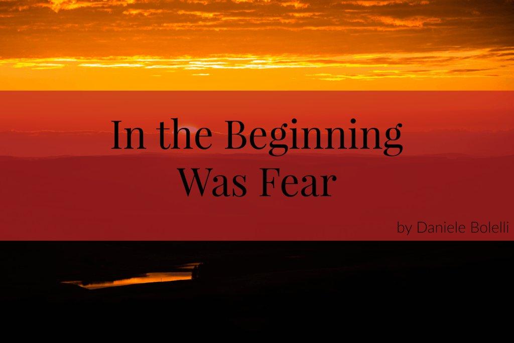 In The Beginning Was Fear - an essay by @DBolelli https://t.co/VRLc7o2kTh #notafraid… https://t.co/XnrPlCrNtY https://t.co/azd8Xzs7hf