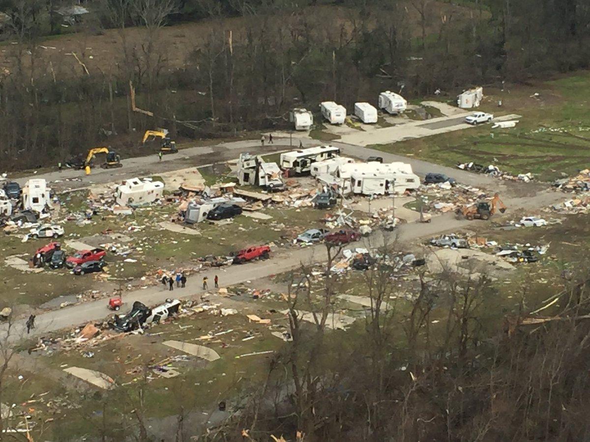 Aerial view of RV park damage in St. James Parish. #lawx https://t.co/dzSpKTyFFc