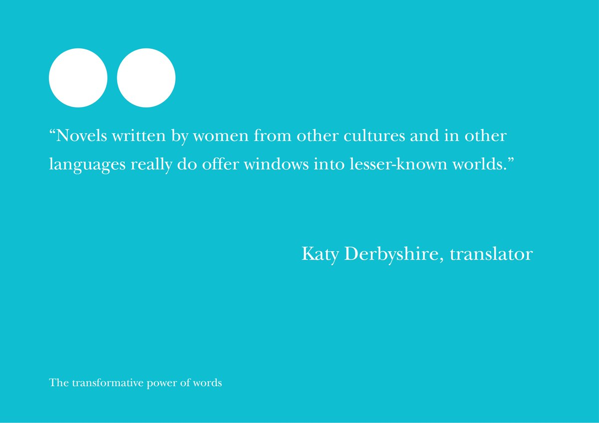Why do #WomenInTranslation matter? @KatyDerbyshire tells us in a new blog: https://t.co/k5hSthImNH https://t.co/hJdLsz4ULE