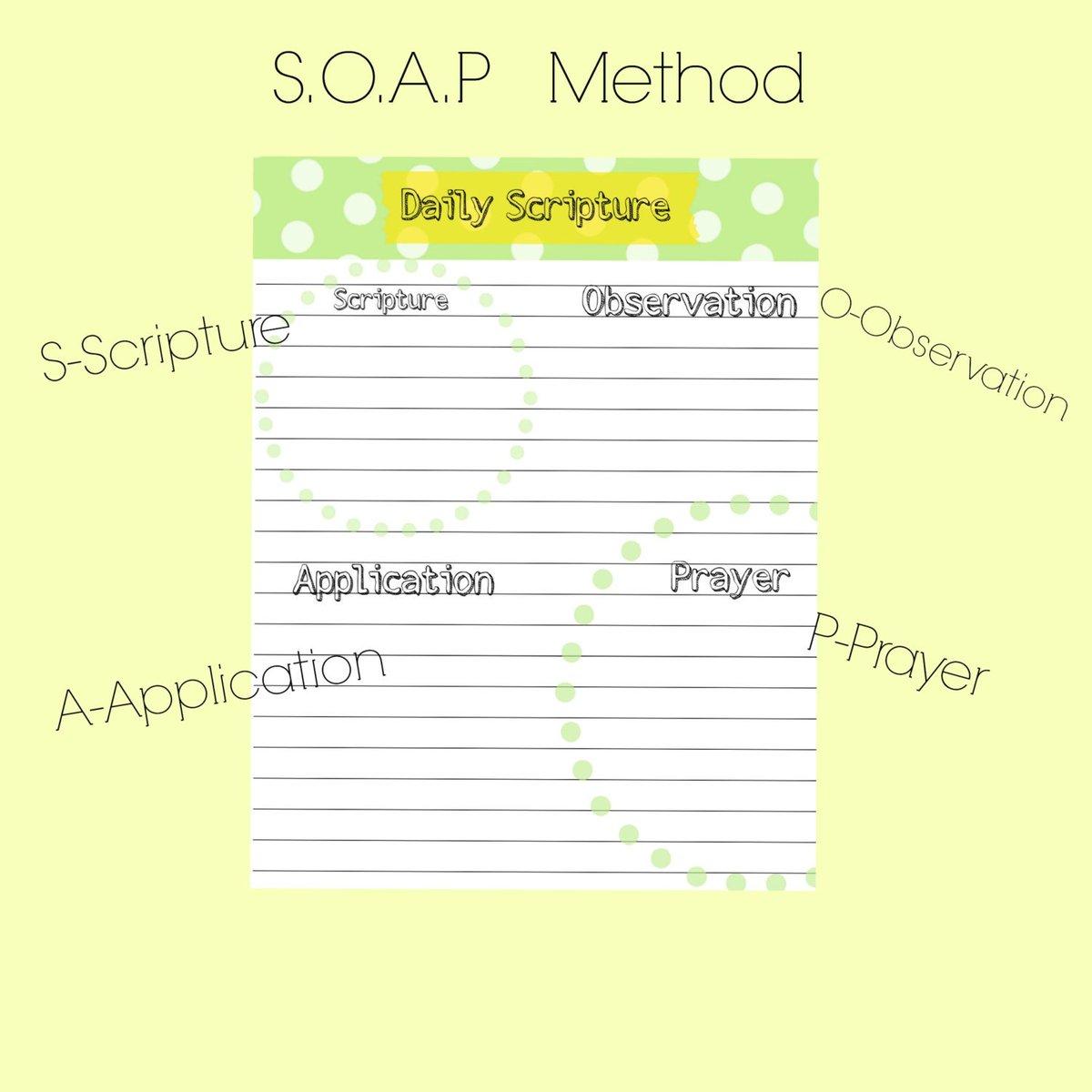 photo about Soap Bible Study Printable titled soapmethod hashtag upon Twitter