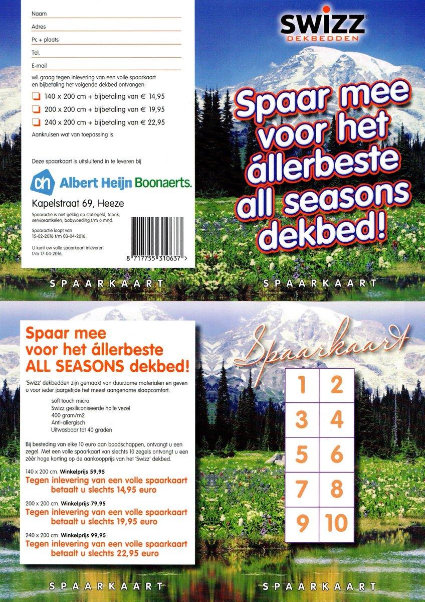 Dekbed Albert Heijn.Albert Heijn Heeze On Twitter Spaar Mee Voor Het Allerbeste All