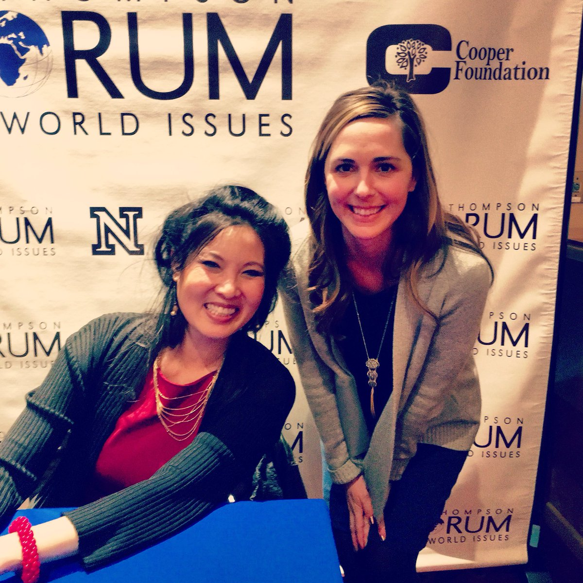 Thanks for shining the light on issues facing women & girls at #ENThompsonForum @WuDunn https://t.co/F0bG9CsJbe
