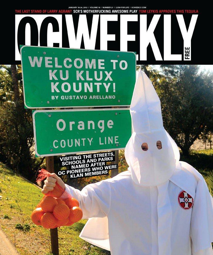 "OC Ku Klux Klan plans rally Feb. 27 in Anaheim, upset @OCWeekly treats them as ""joke"" https://t.co/TeXYK7gfQY https://t.co/gUWv6Mp7bm"