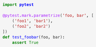 Parametrizing tests with pytest is nicer than using for loops to iterate over test values: https://t.co/RROjIoOQq3 https://t.co/6POlrdW5UU