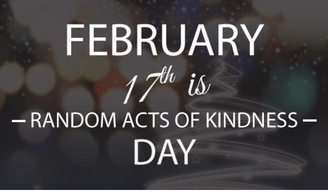 The world needs more-- today is Random Acts of Kindness Day - make sure you participate #RandomActsOfKindnessDay https://t.co/SAJ6cta7Ua