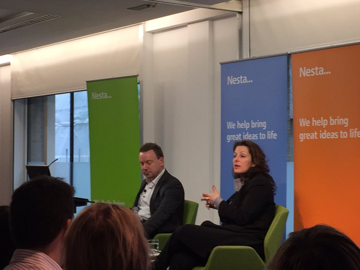 Great talk this am from @bethnoveck at @nesta_uk on future of #government using citizen skills #nestanoveck https://t.co/7BnIezYfJs