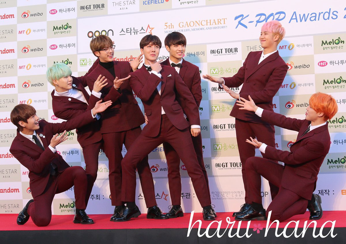 Picture Media Bts At The 5th Gaon Chart K Pop Awards Red Carpet 160217