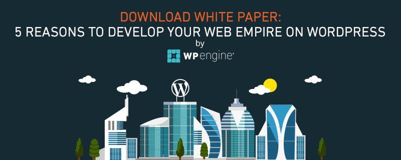 Looking for a reason to develop your web empire with WordPress? We've got 5: https://t.co/G49seMLato https://t.co/xIgwvWKqIW