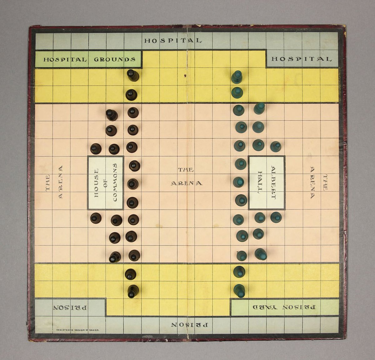 "The 1917 board game ""Suffragetto,"" where players compete as police or suffragettes to defend their political bases: https://t.co/TOWKUIHPbU"