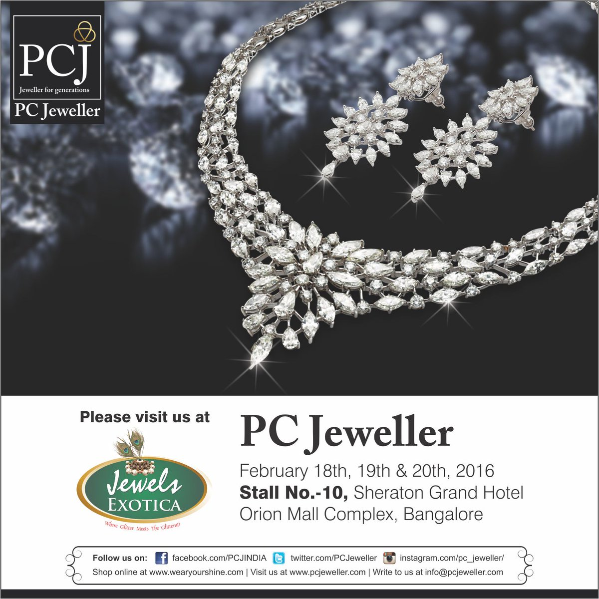 pc jeweller on twitter experience pcj s exquisite shine at jewels