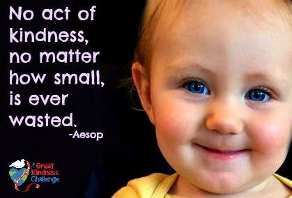 """No act of kindness, no matter how small, is ever wasted."" (Aesop) #RandomActsOfKindnessDay #greatkindnesschallenge https://t.co/TuEel5aykw"