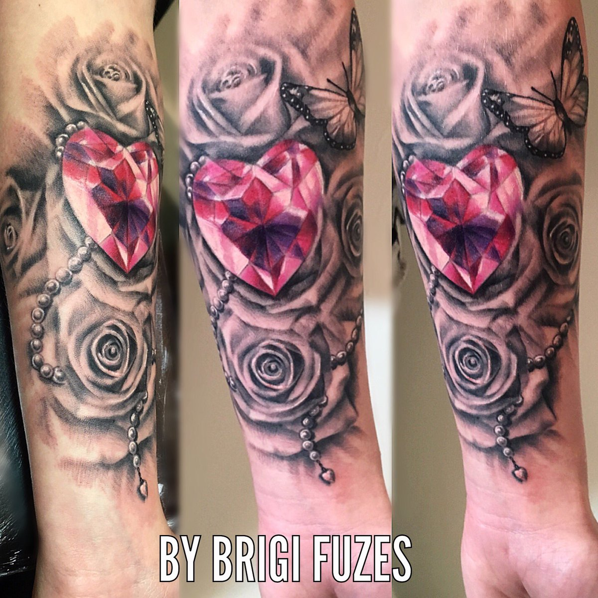 the gallery for gt diamond shaped heart tattoo