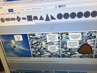Using @StoryboardThat to create comics about erosion and weathering. #pisddlday #pisdedchat #wyattlearns https://t.co/dViSv6yg3p