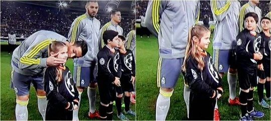 Ronaldo prima dell'inizio della partita Roma-Real