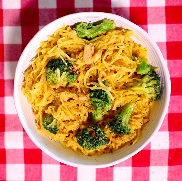 You should make this cheezy vegan spaghetti squash for for What should i make for dinner tonight