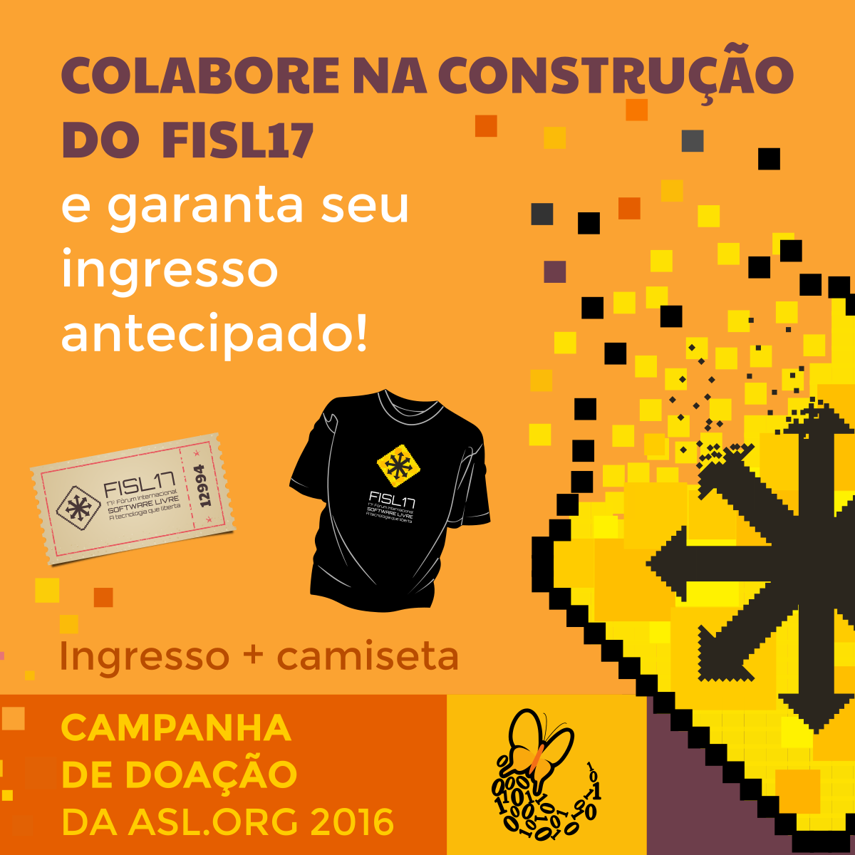 Ingresso Antecipado + Camiseta Oficial do #FISL17! Saiba como:  https://t.co/cVFic55lHf https://t.co/TUc6E6vF2t