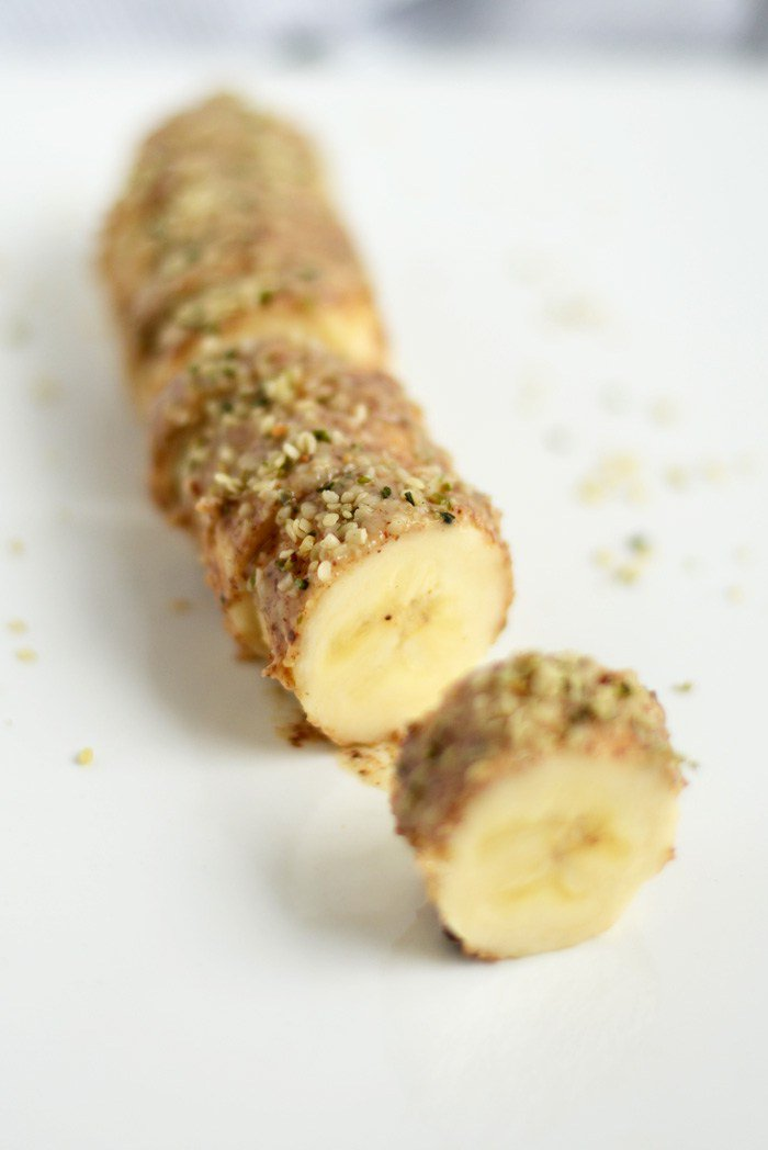 Need a #snack & quick? Doesn't get easier than Almond Butter Hemp Seed Banana Sushi: https://t.co/P4ZgheV3II #vegan https://t.co/xA2pdlUj6c