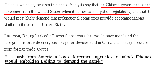 The New York Times: @FBI's war on #Apple will aid China. https://t.co/URWamc702q