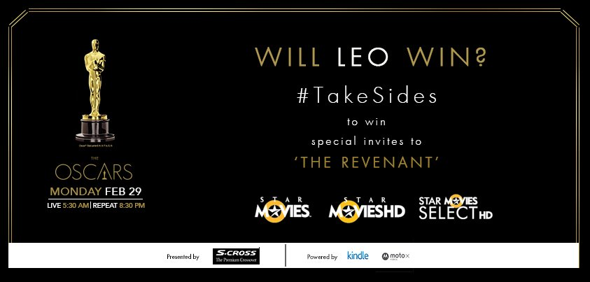 Think Leo will win the Oscar this time?  #TakeSides on today's contest & tell us why to win invites to The Revenant. https://t.co/2nrjm3e5d9