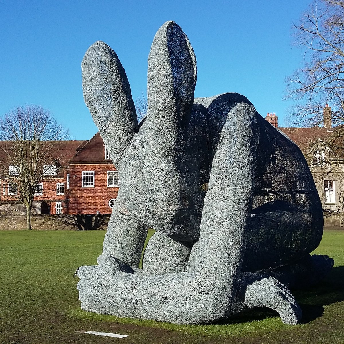 Massive sculpture relocated because people busy texting kept walking into it