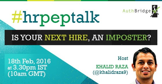 "Few hours more for #hrpeptalk chat on  ""Instant identity verification"" wid host @khalidraza9 https://t.co/yawpHz51Zo"