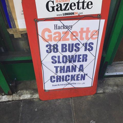 This is Joy: 38 BUS SLOWER THAN A CHICKEN https://t.co/4v2CNfapgD https://t.co/DD2nPckUXP