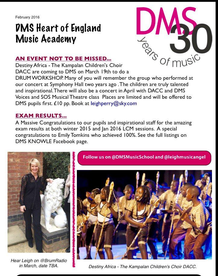 #DrumWorkshop @DMSMusicSchool March19bookUrPlace @BrumHour @solihullhour @BalsallBuzz @BirminghamEdu #Inspire<br>http://pic.twitter.com/2F0lXOeZS8