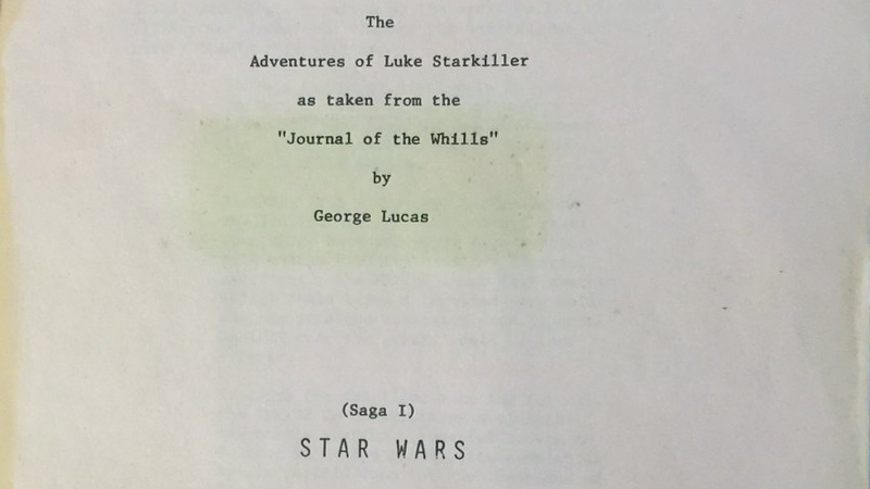 Chewbacca Tweets the Original Star Wars Script