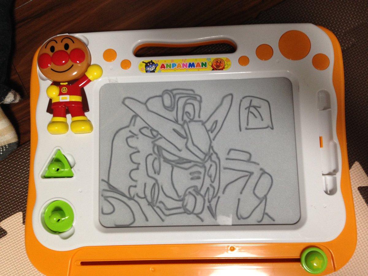 息子のお絵描きボードに落書き(^O^) https://t.co/27axiN7gin