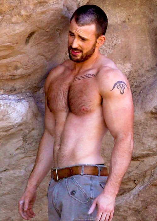Chris evans bulge