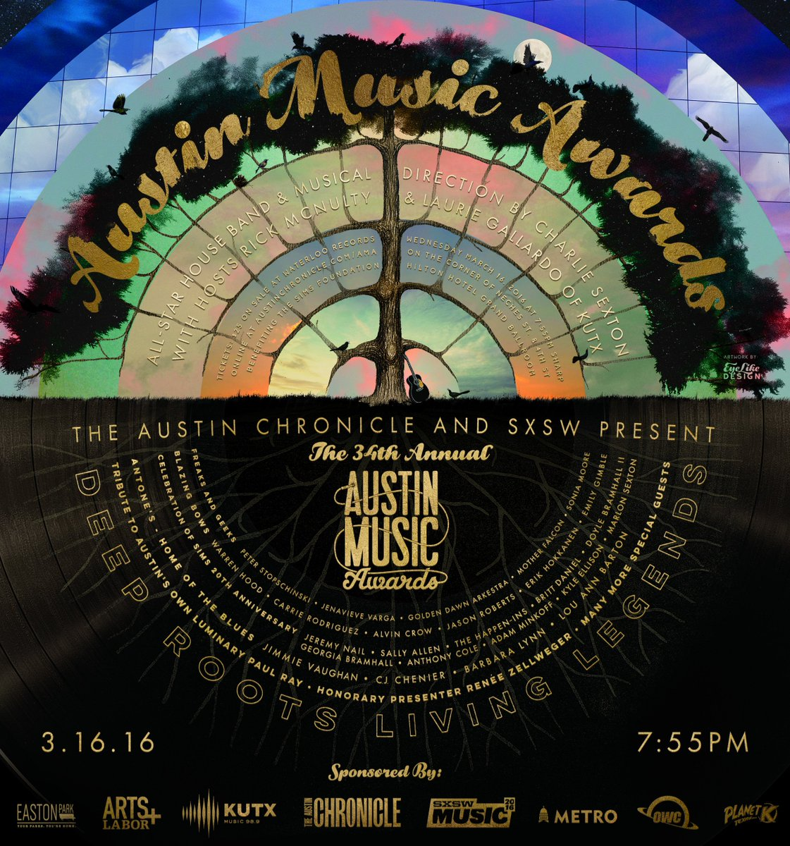 The 34th Annual #AustinMusicAwards lineup w/ Renée Zellweger + @JimmieVaughan & more. Tix: https://t.co/th1f1A4psE https://t.co/N5VRBIzAVo