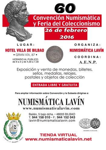 60 CONVENCIÓN NUMISMÁTICA BILBAO 26 de febrero CbhLCP3WIAEGxKn